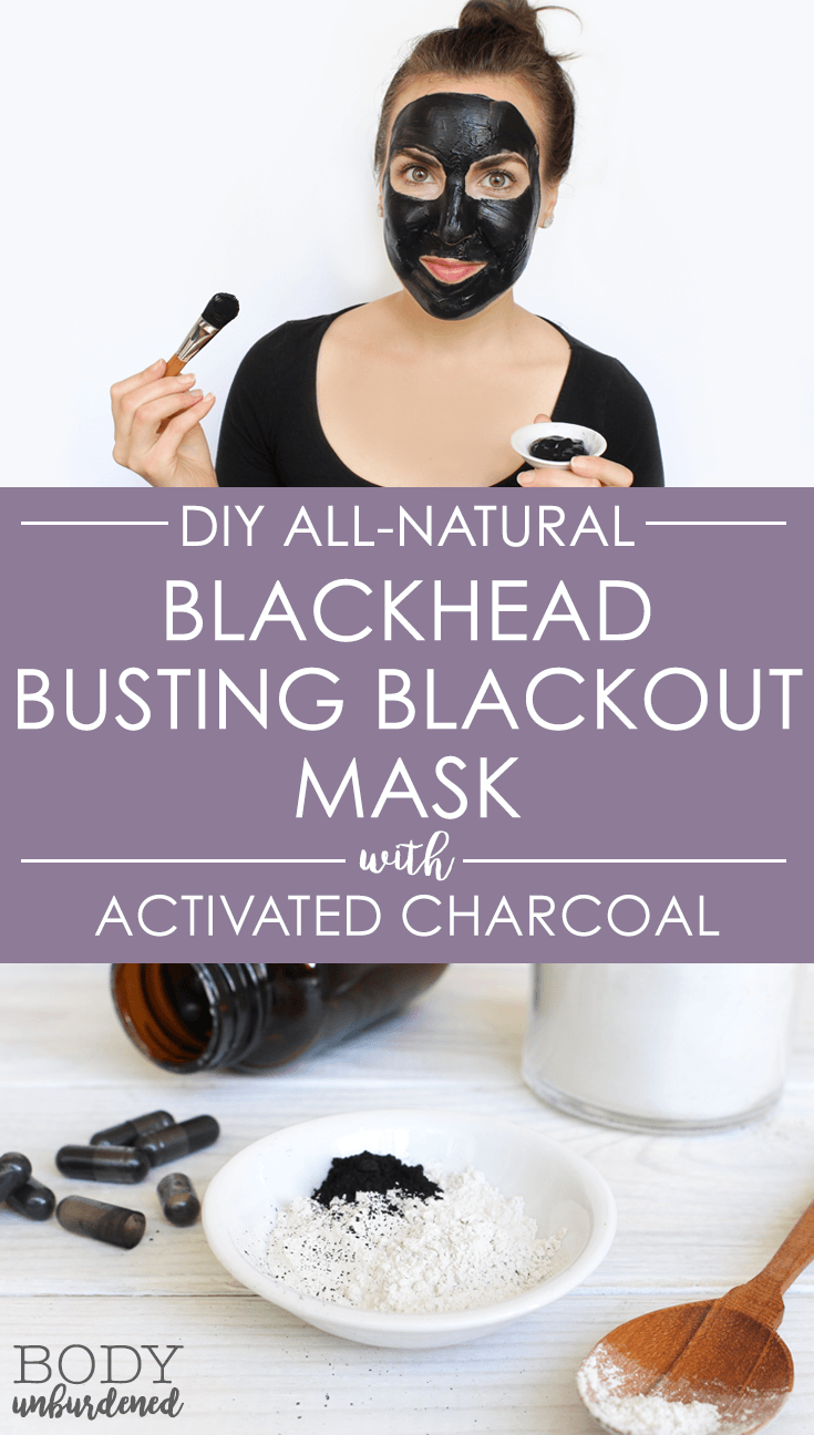 homemade face mask for blackheads || This DIY All-Natural Blackhead Busting Blackout Mask is the best natural remedy for blackheads! Made with natural + powerful ingredients to keep skin clear.