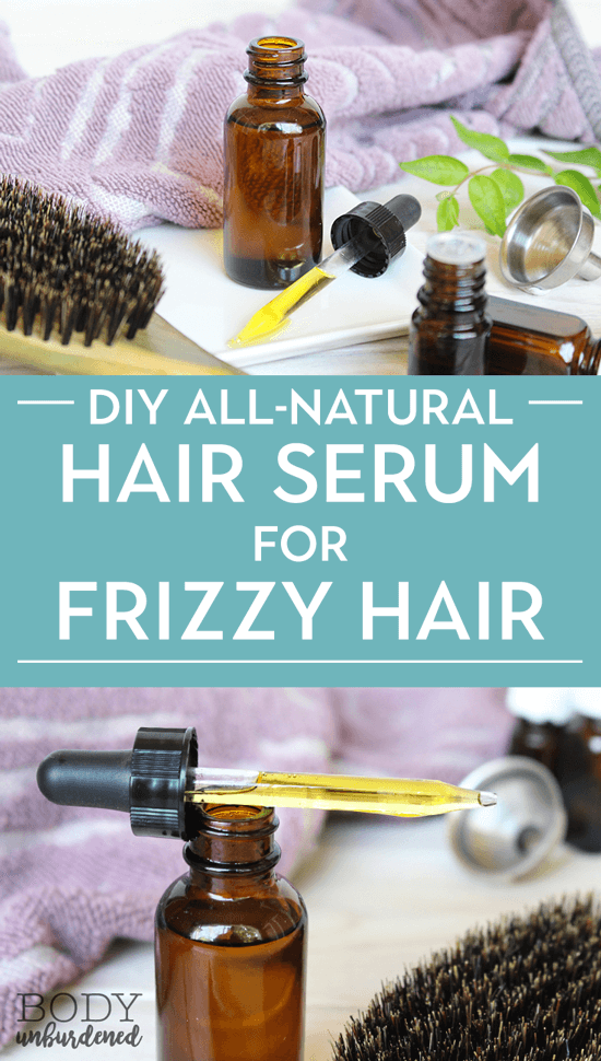 Homemade Natural Hair Serum For Frizzy Hair