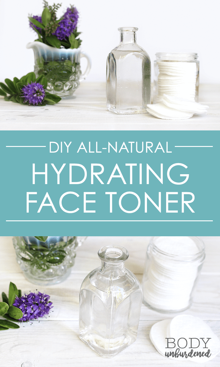 DIY All-Natural Hydrating Face Toner || This DIY all-natural toner is the perfect remedy for dry skin! It helps balance the skin's pH, reduce the appearance of pores, and leaves skin oh so soft.