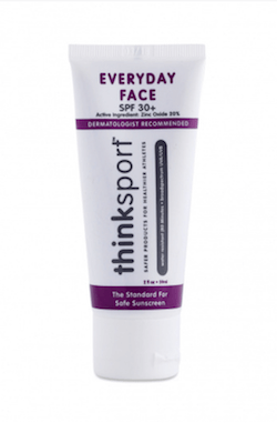 best natural sunscreen thinksport everyday face spf 30 || Looking for the best natural sunscreens? These options are non-toxic, eco-friendly, offer broad-spectrum protection & won't leave you looking like a ghost!