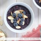 healthy blueberry pie quinoa breakfast porridge recipe